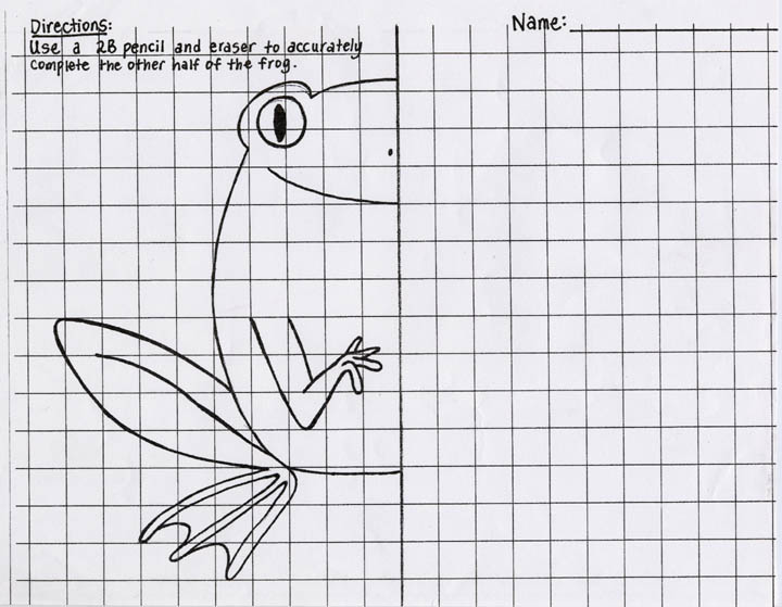 Printables Art Worksheets For High School kozmic dreams high school art lesson plans symmetrical frog completion exercise