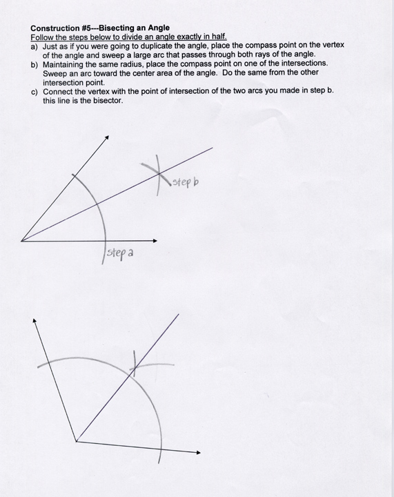Kozmic Dreams High School Lesson Plans Level 2 – Geometry Construction Worksheets