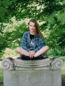 me in cemetery 1992 fall.jpg (76930 bytes)